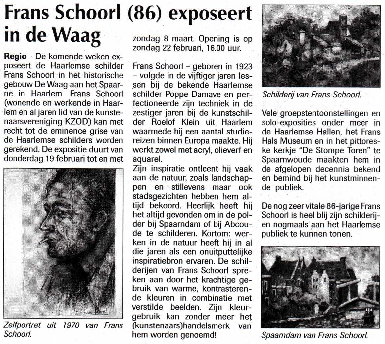persbericht-frans schoorl-2009-02