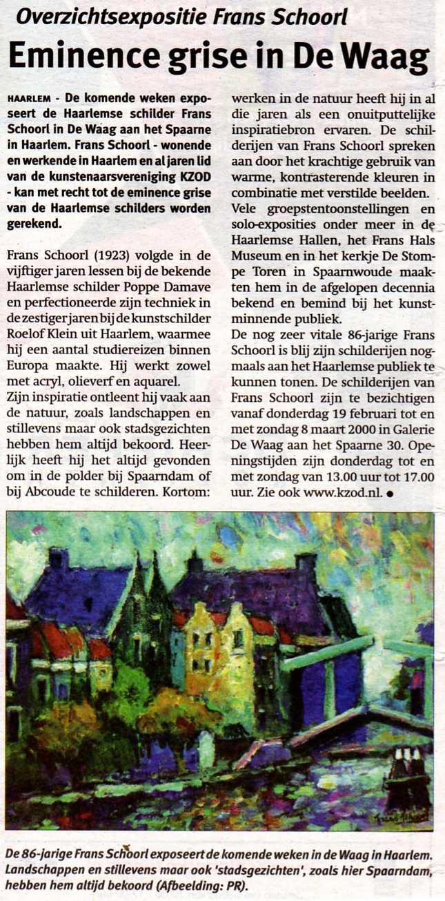 persbericht-frans schoorl-2009-03