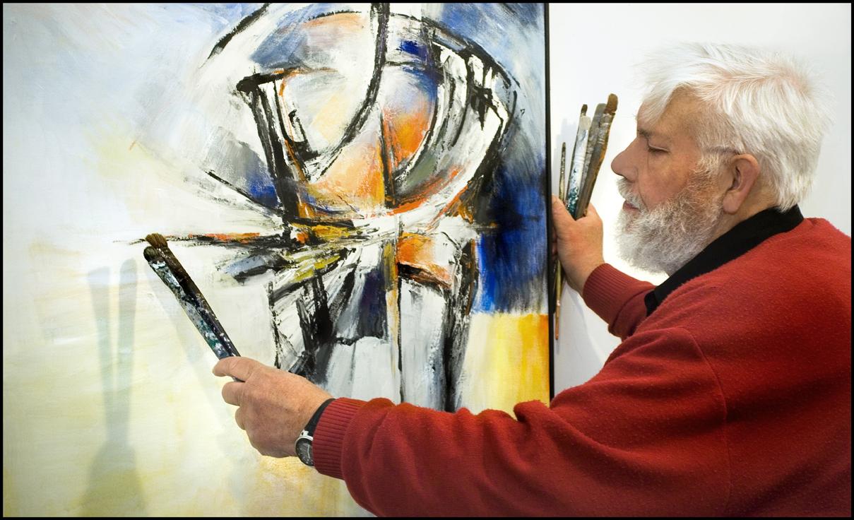 Tijdens het schilderen staat de jazz hard aan | Wim Vellekoop