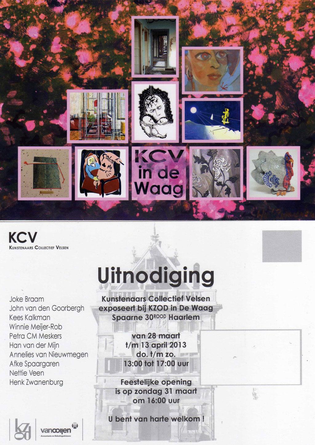 Expositie KCV, Kunstenaars Collectief Velsen in De Waag