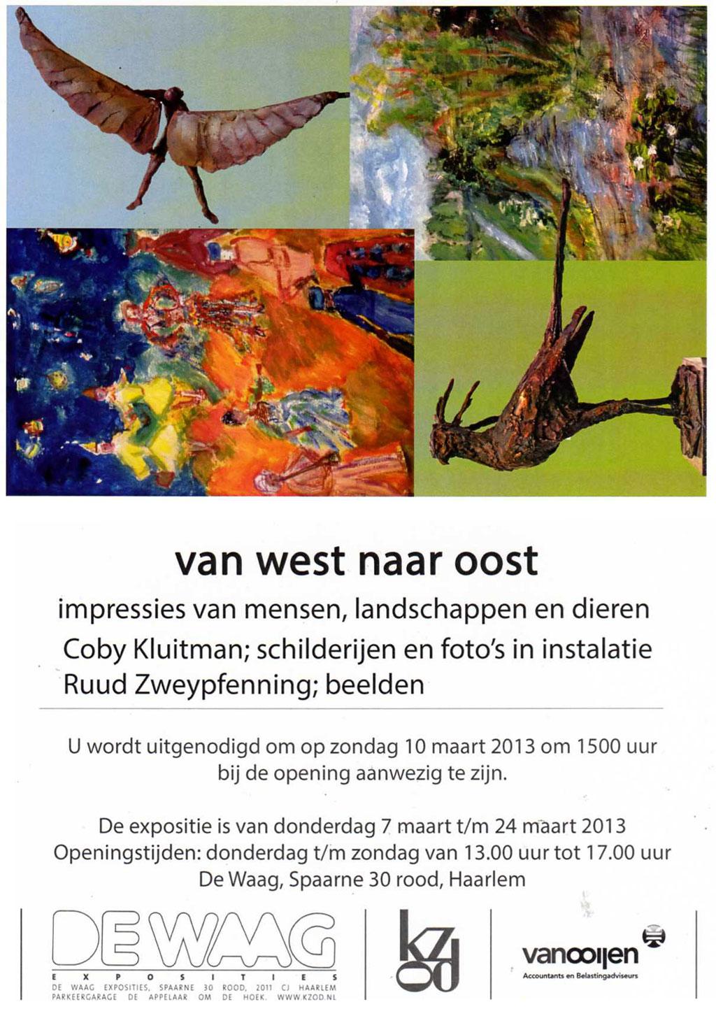 Expositie Van West naar Oost, Coby Kluitman en Ruud Zweypfenning