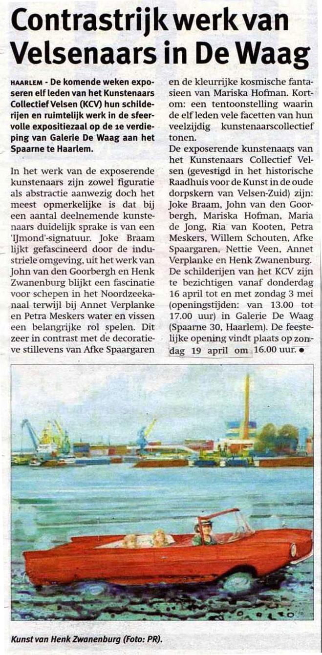 Kunstenaars Collectief Velsen in De Waag