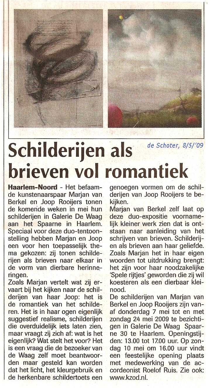 Marjan van Berkel & Joop Rooijers in De Waag