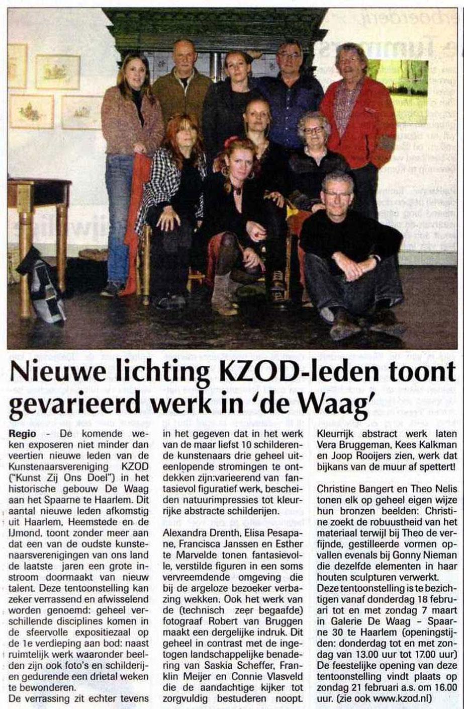 Tentoonstelling Nieuwe Leden KZOD 2010