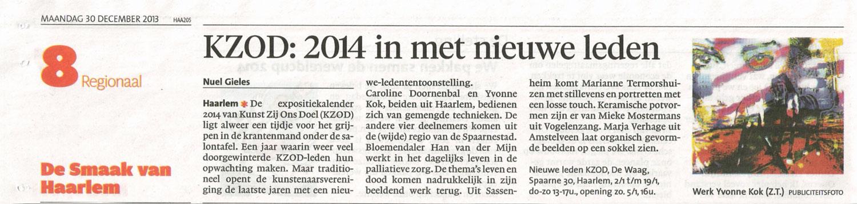 KZOD: 2014 in met nieuwe leden