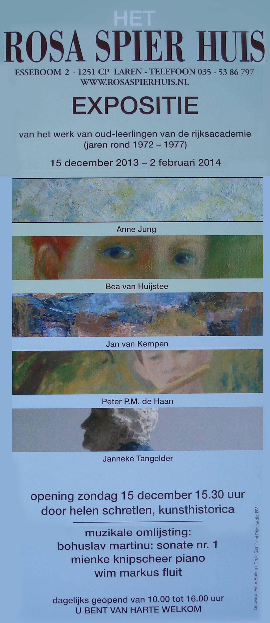 Postuum deelname Anne Jung aan expositie Rosa Spier Huis
