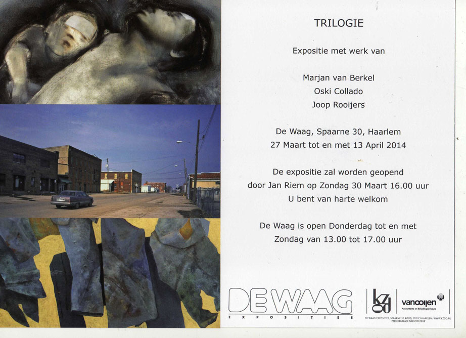 Trilogie Waagexpo Marjan van Berkel, Oski Collado en Joop Rooijers