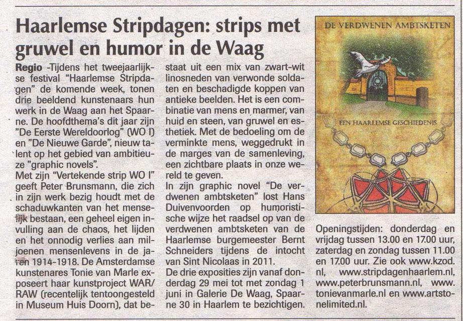 Persbericht | Heemsteder | Stripdagen in De Waag