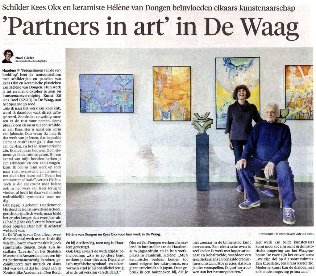 Persbericht | 'Partners in Art' in De Waag