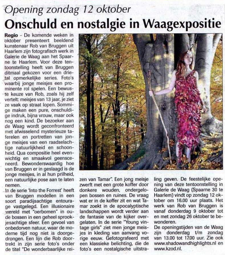 Persbericht   Onschuld en nostalgie in Waagexpositie
