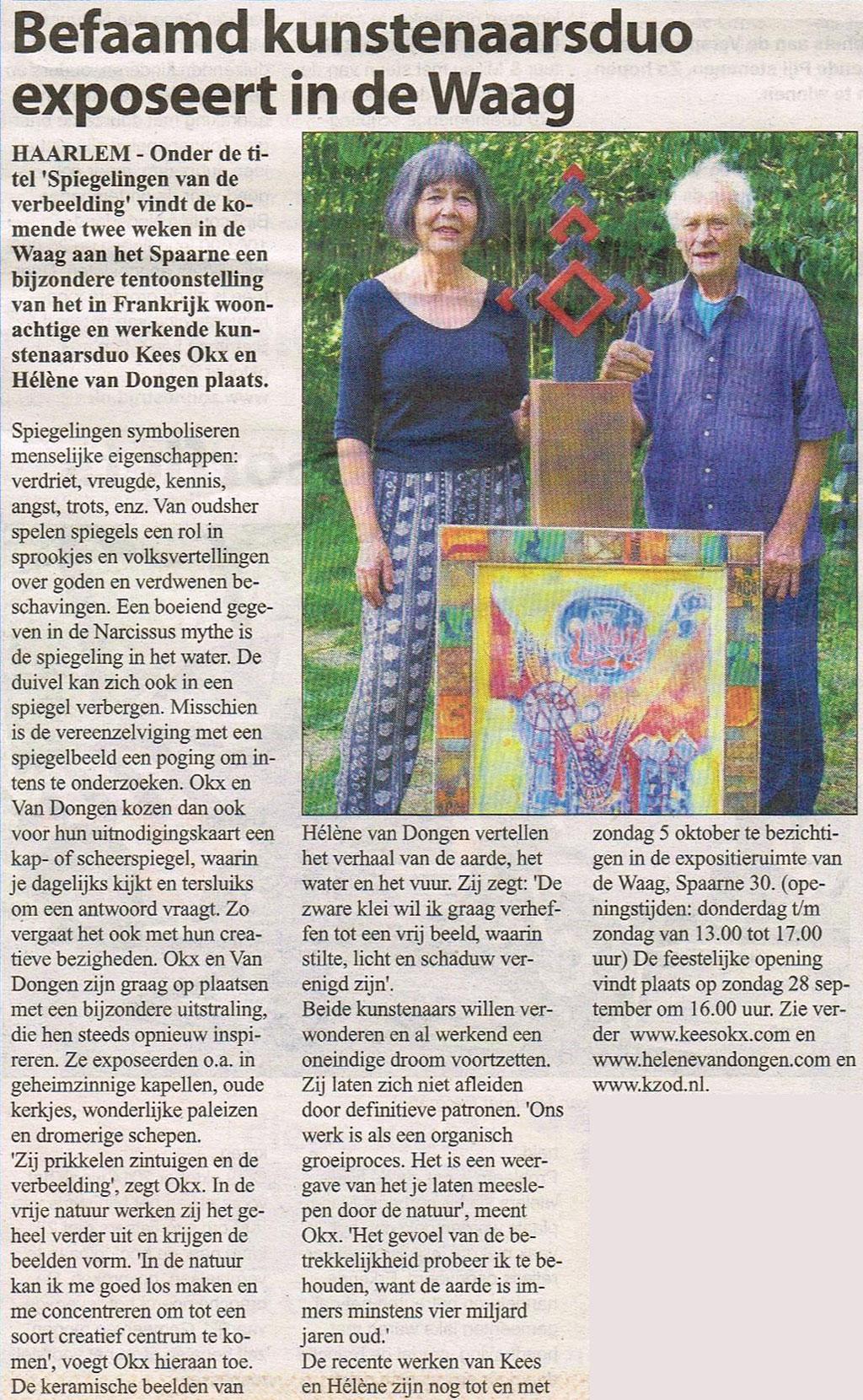 Persbericht | Befaamd kunstenaarsduo exposeert in De Waag