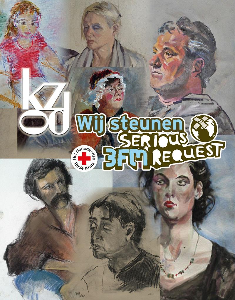 KZOD kunstenaars portretteren voor Serious Request