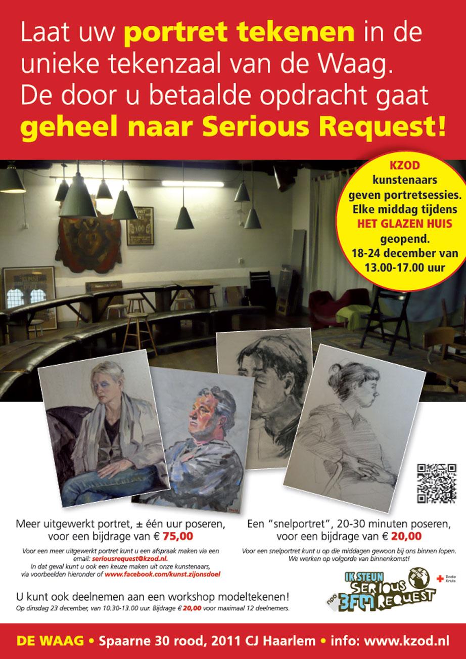 Laat uw portret tekenen in de unieke tekenzaal van De Waag