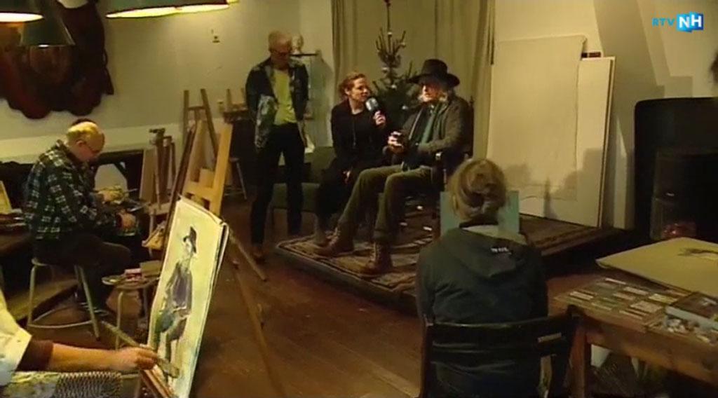 RTV-NH bezoekt de Waag en interviewt Leo van Velzen