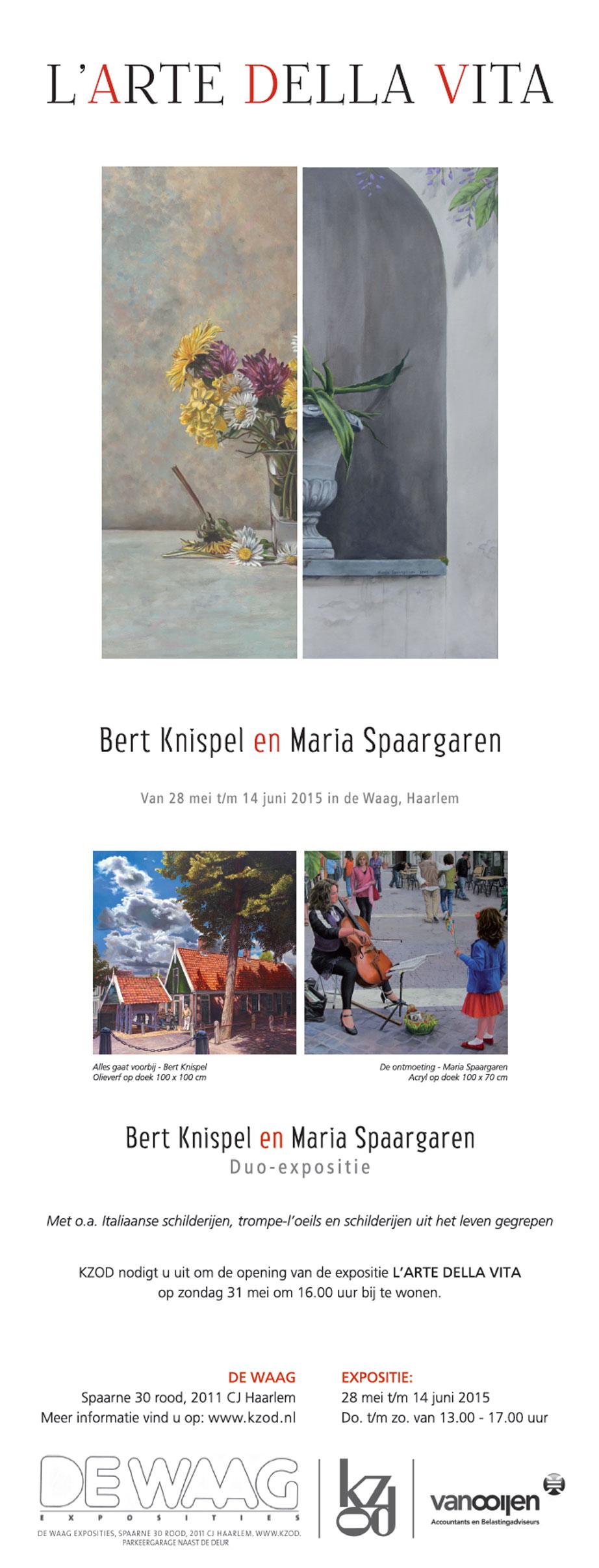 Expositie-Maria-Spaargaren-en-Bert-Knispel-De-Waag-2015