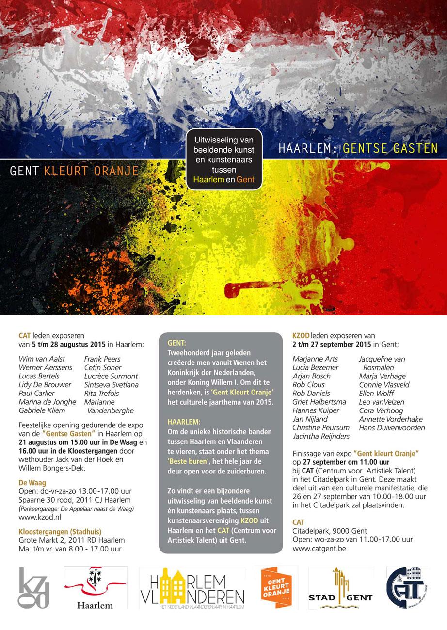 Uitwisselingsexpositie | Gentse Gasten | Gent Kleurt Oranje | De Waag / CAT – Gent