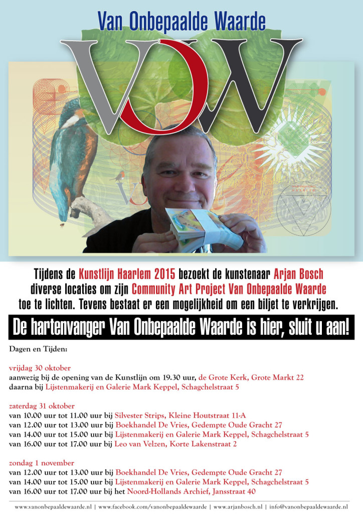 Programma presentaties Arjan Bosch - biljetten VOW - Kunstlijn-2015