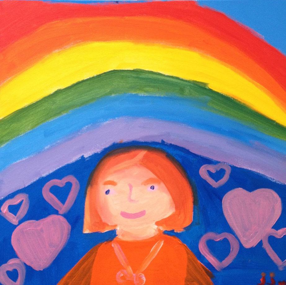 Onder een regenboog van liefde bloeit de kunst