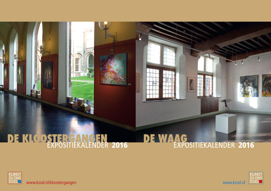 KZOD expositiekalenders 2016 | De Waag en de Kloostergangen