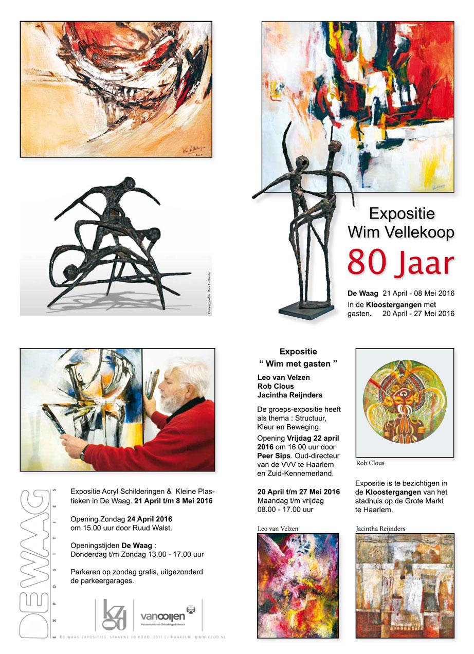 Expositie Wim Vellekoop 80 jaar | De Waag en de Kloostergangen