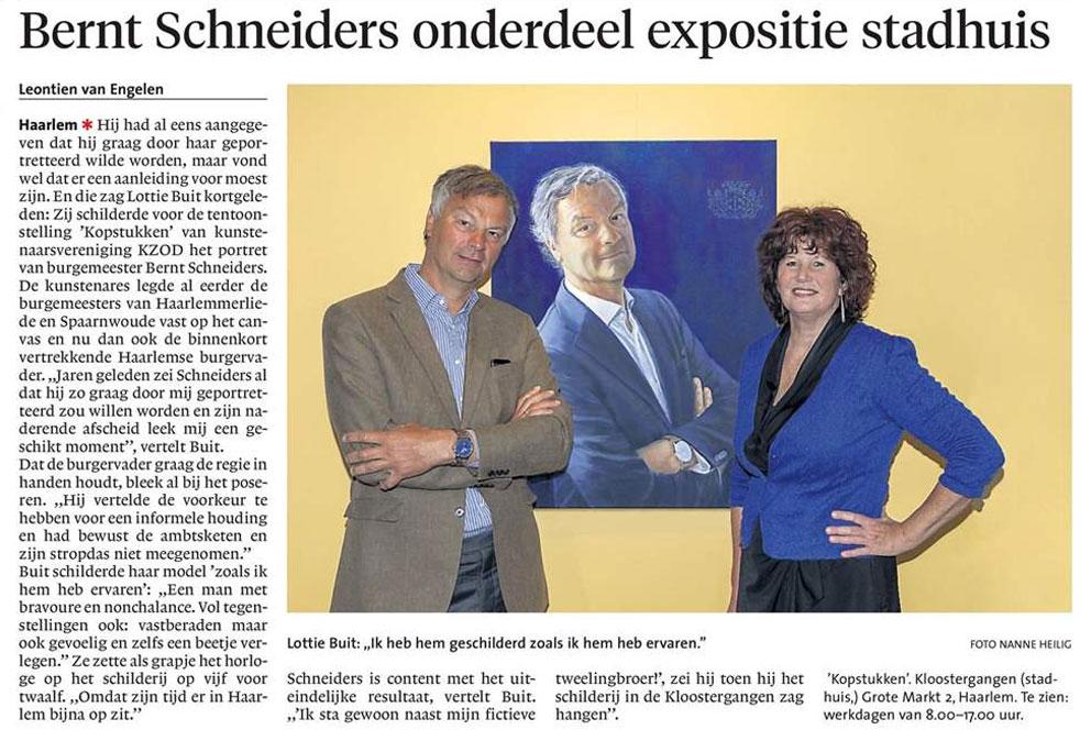 Persbericht | Bernt Schneiders onderdeel expositie stadhuis