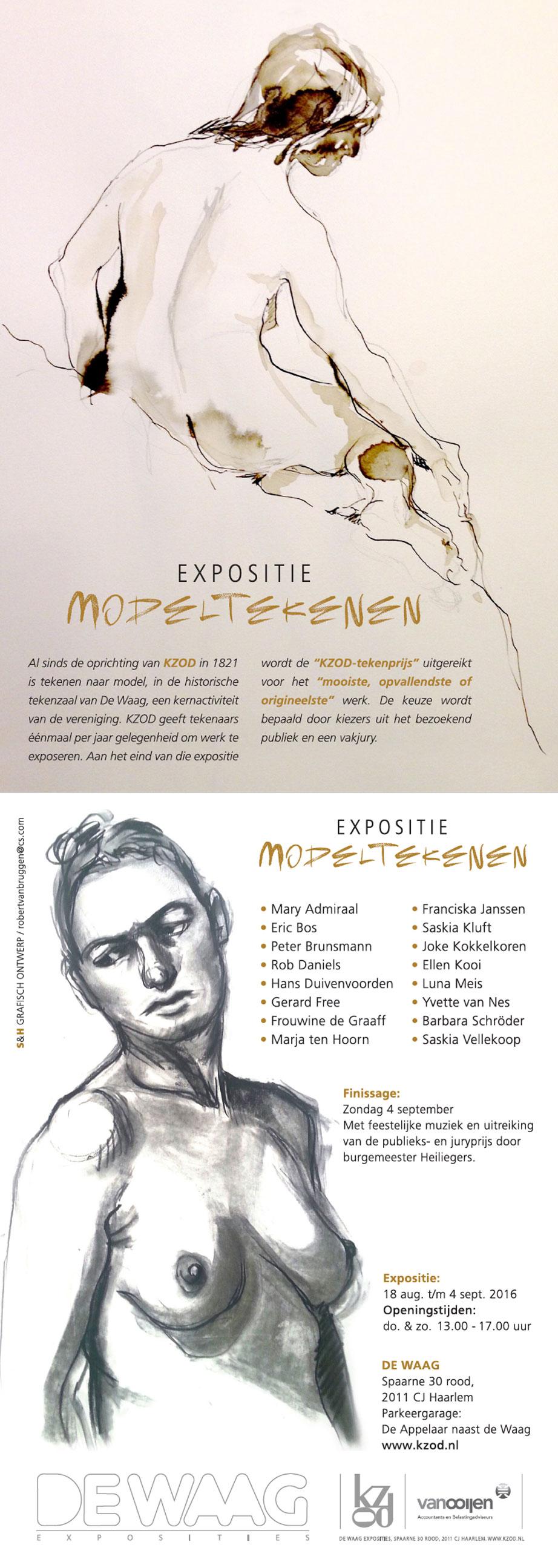 Expositie Modeltekenen in de Waag