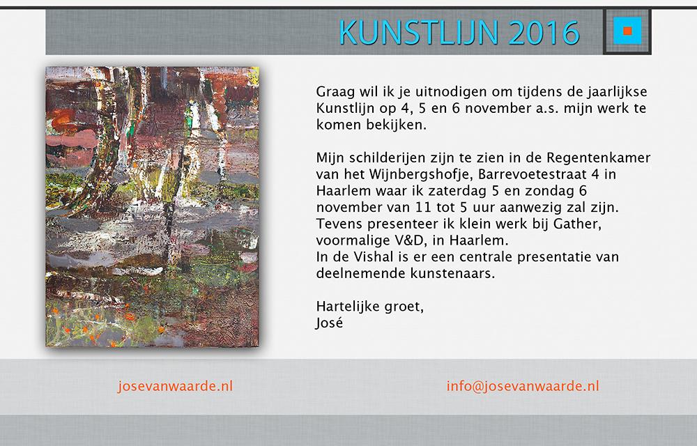 José van Waarde exposeert in het Wijnbergshofje | Kunstlijn Haarlem 2016