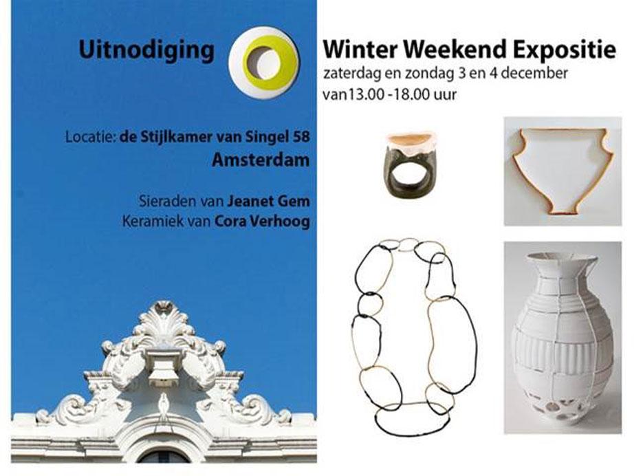 Winter Weekend Expositie Cora Verhoog | De Stijlkamer Amsterdam