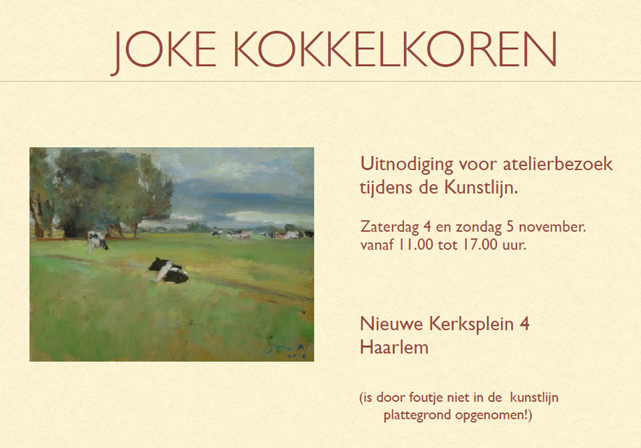 Joke Kokkelkoren open atelier | Kunstlijn Haarlem 2016