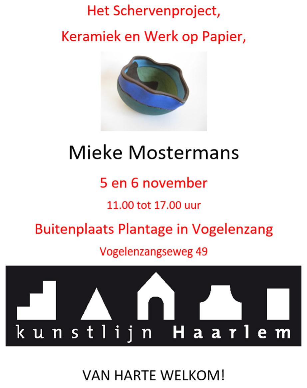 Mieke Mostermans exposeert bij Buitenplaats Plantage in Vogelenzang | Kunstlijn Haarlem 2016