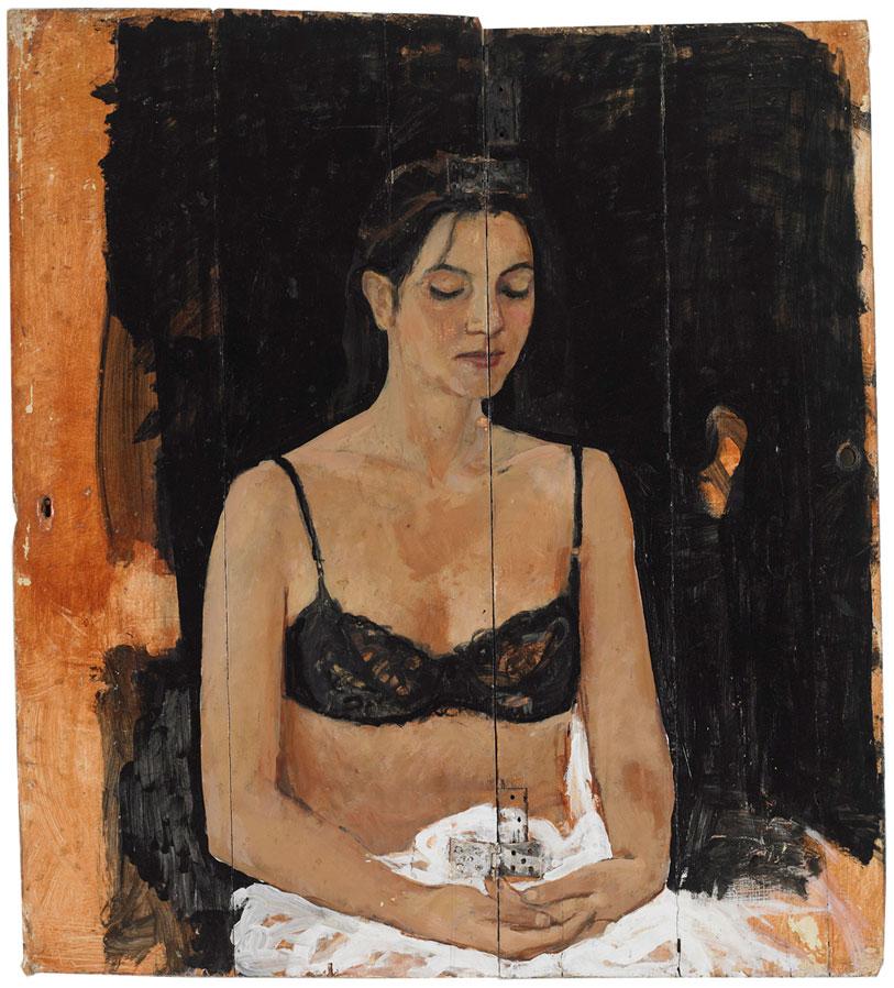Celliste Jeanny Beerkens bij expositie