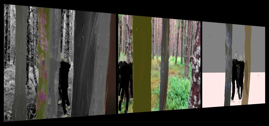 Painted video in De Waag