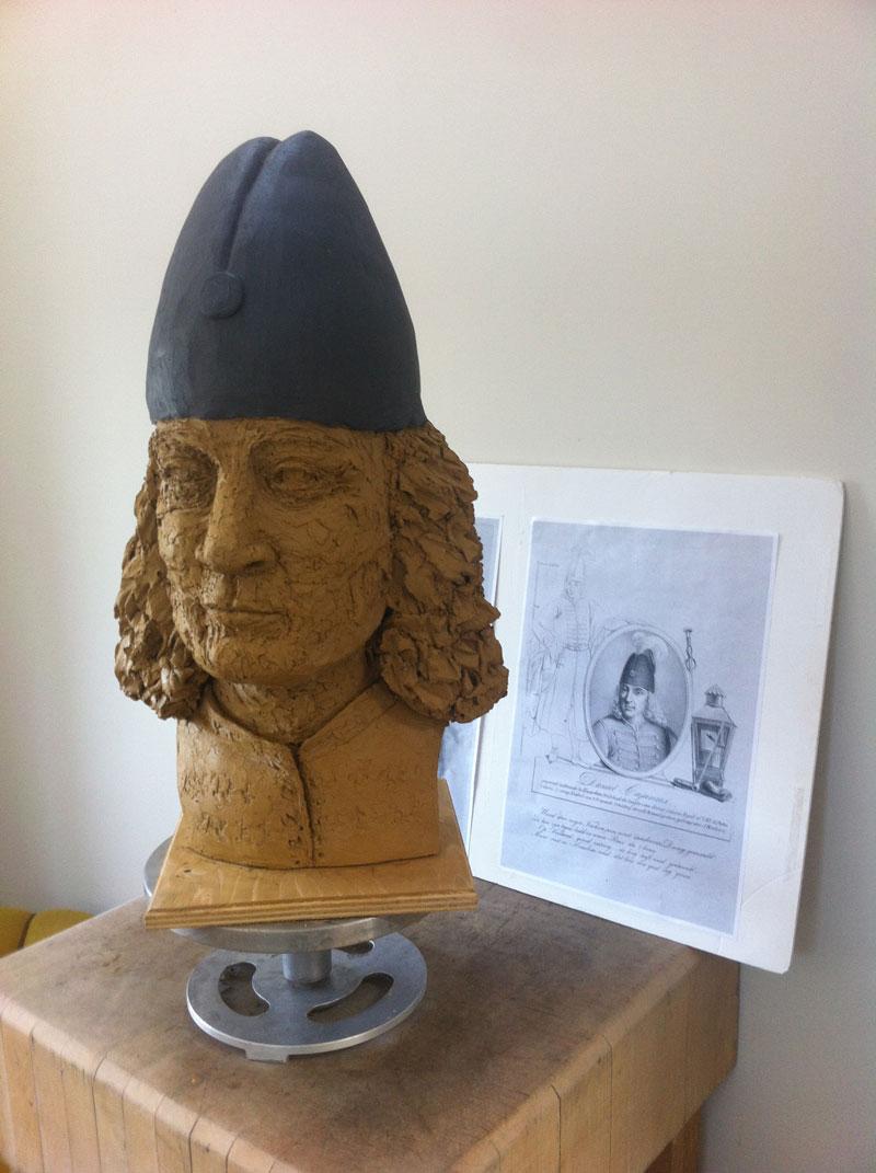 Borstbeeld Cajanus in museum Haarlem