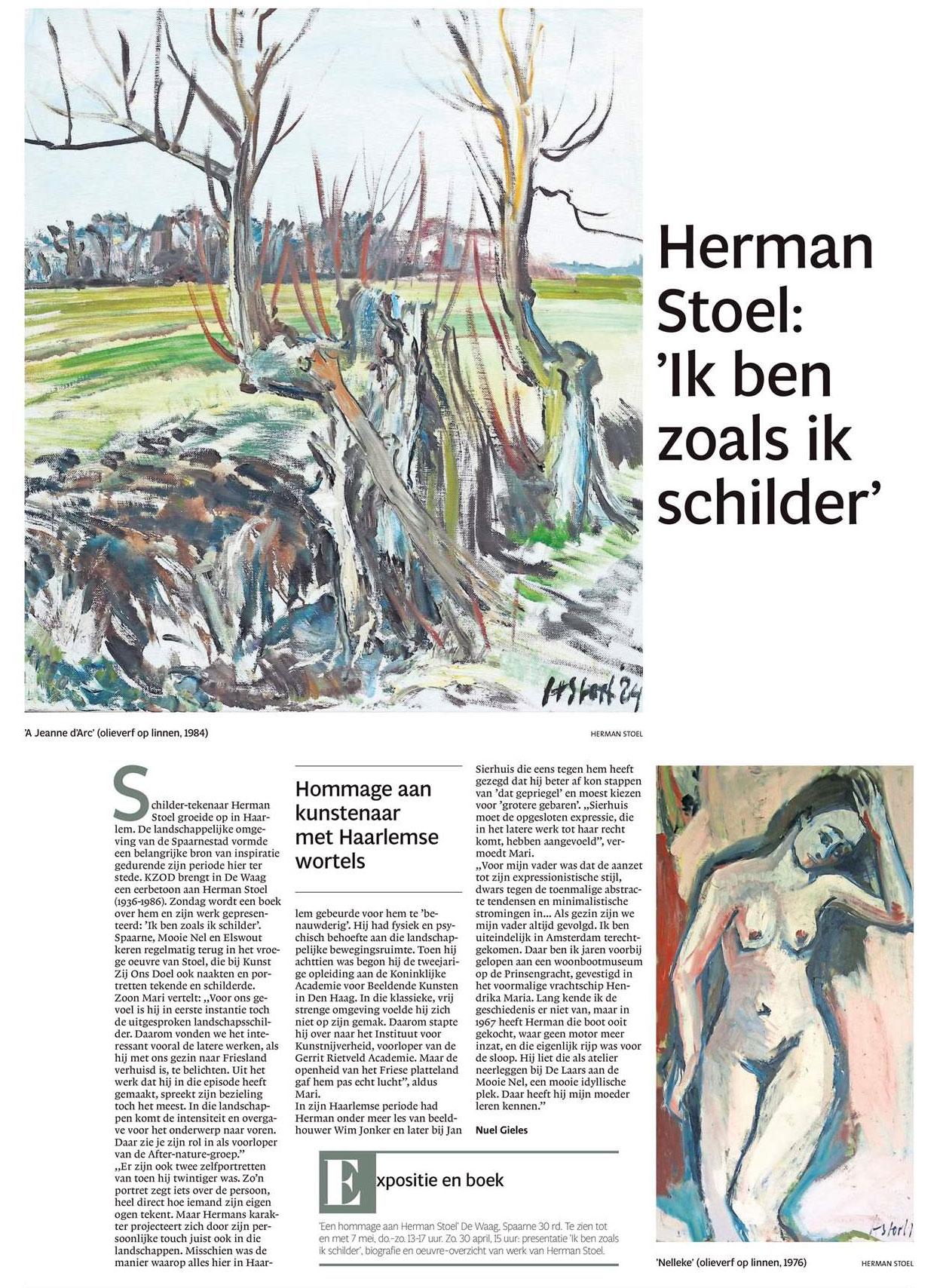 Herman Stoel: 'Ik ben zoals ik schilder'