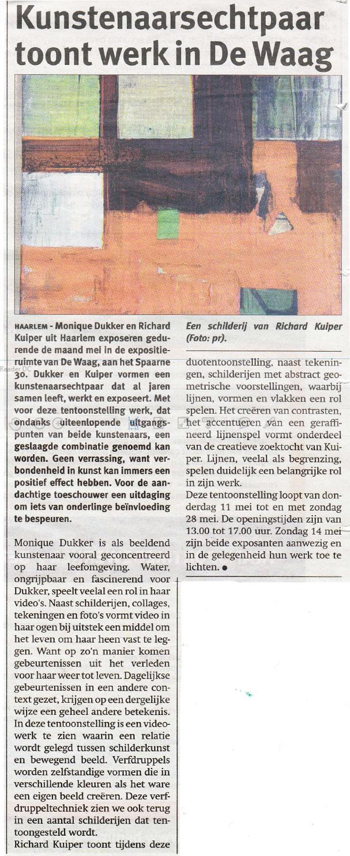 Kunstenaarsechtpaar toont werk in de Waag