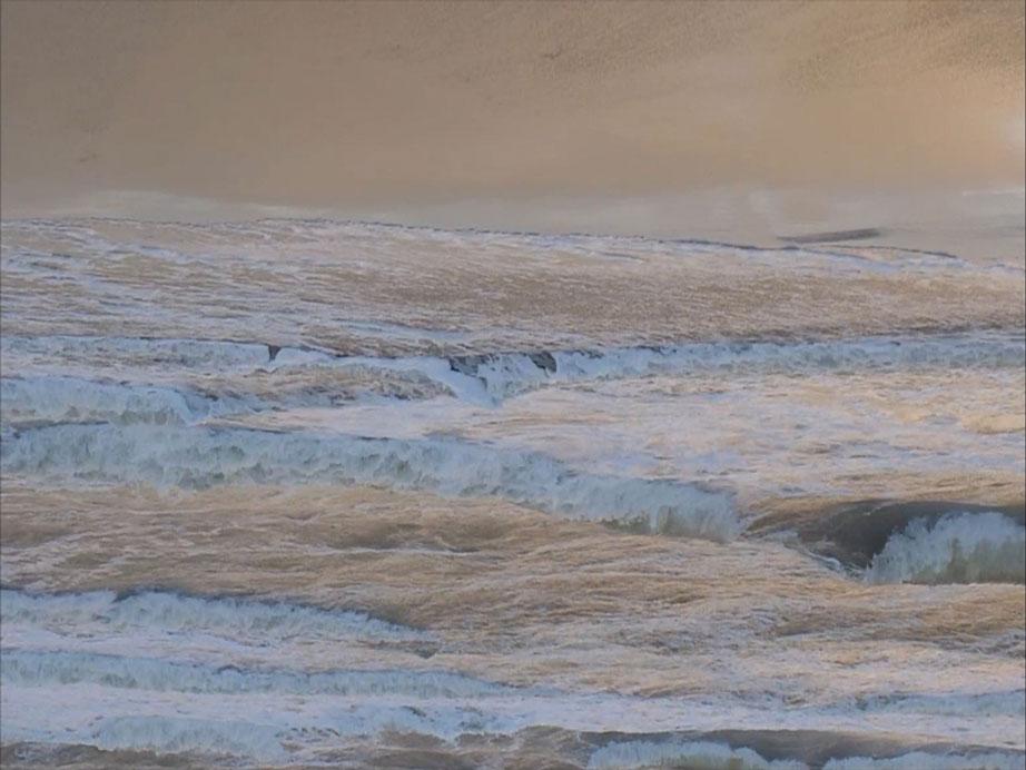 Filmpje 'Water Wolken I' van Eveline Hardeman te zien bij de Fundatie in Zwolle