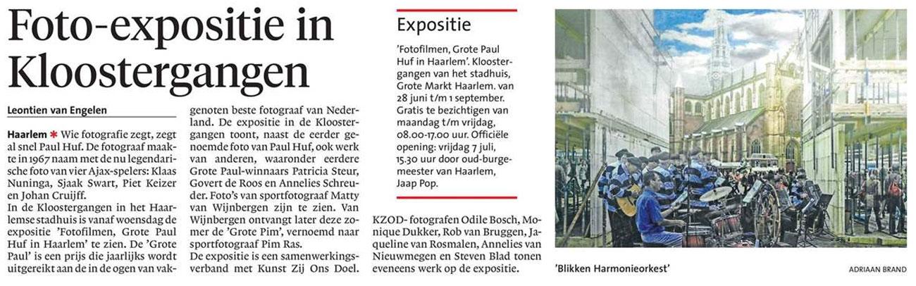 Foto-expositie in Kloostergangen