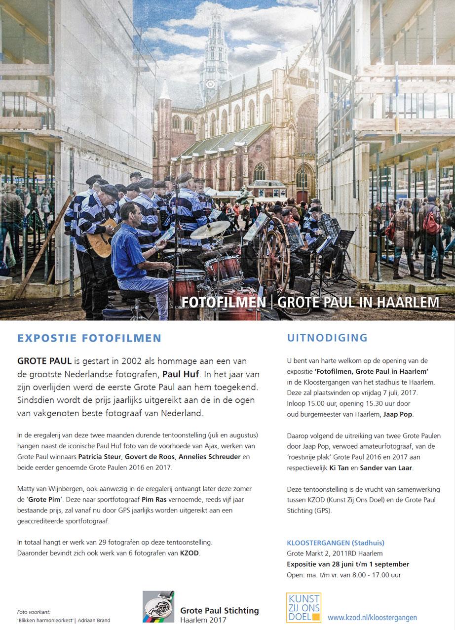 Expositie de Kloostergangen | Fotofilmen | Grote Paul in Haarlem