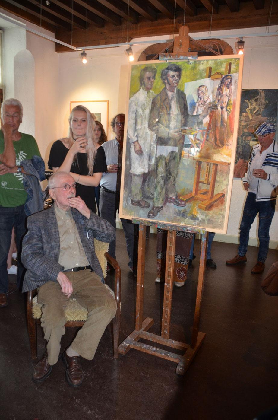 Opening expositie | Henk Ames viert 70 jaar kunstenaarschap | 16 juli 2017