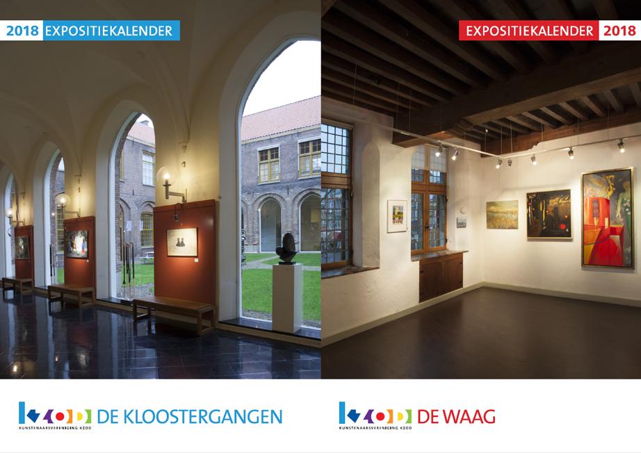 KZOD expositiekalender De Waag en De Kloostergangen 2018 bekend