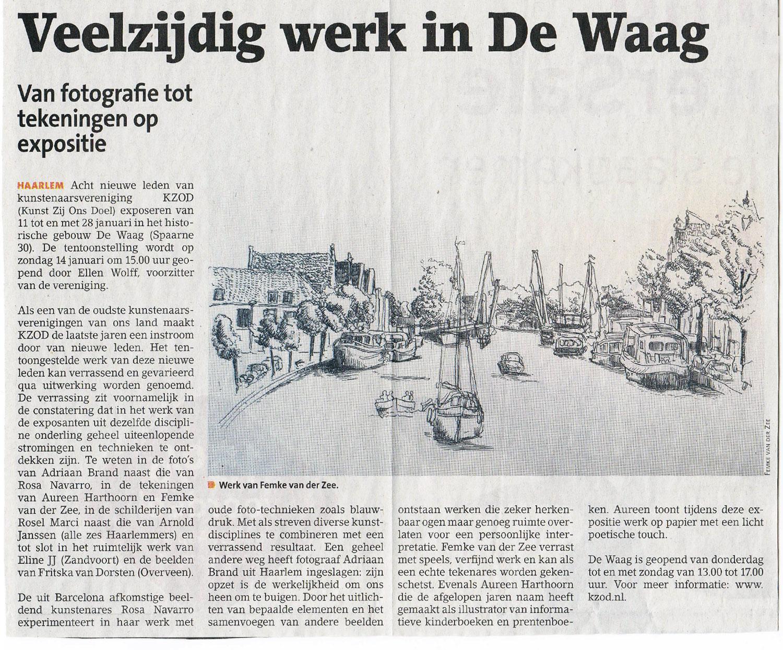 Persbericht | Veelzijdig werk in De Waag