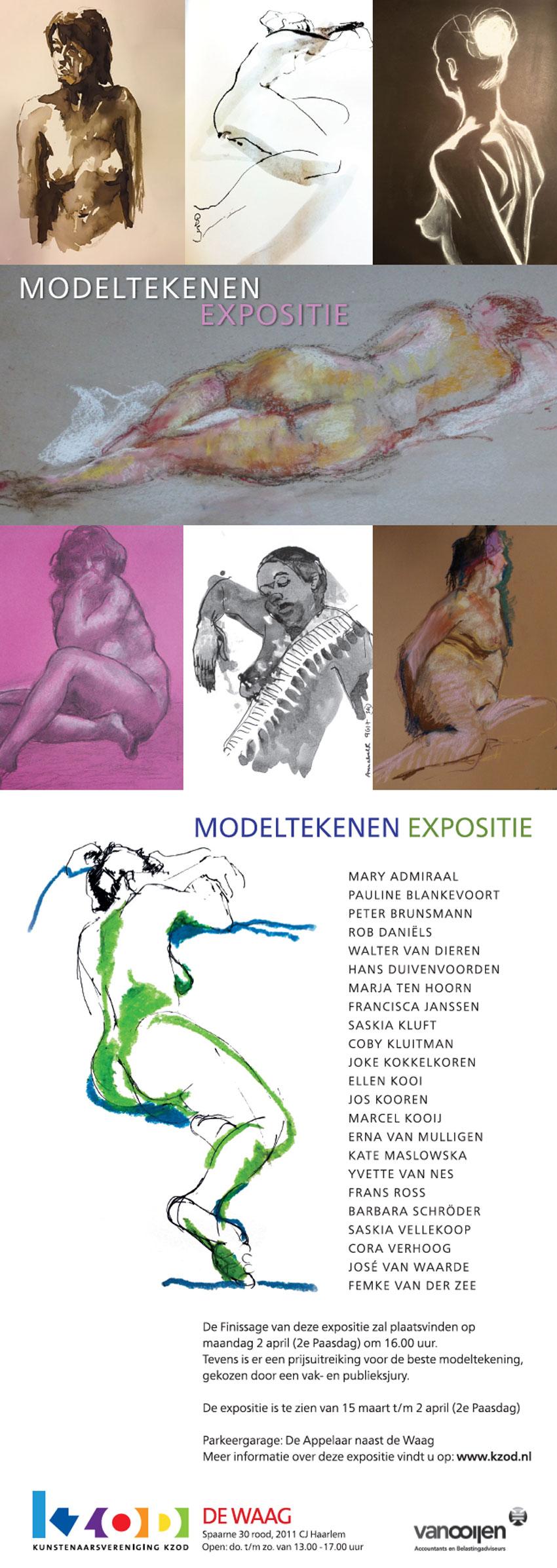 Expositie De Waag |  Modeltekenen