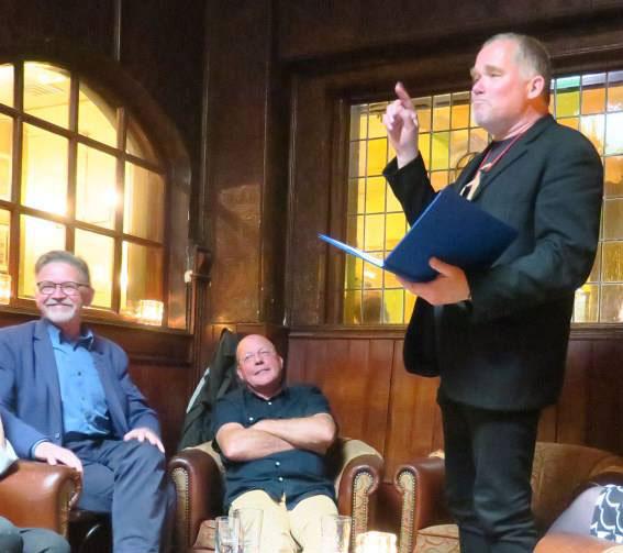 Arjan Bosch dicht op Haarlems Poëziefestival