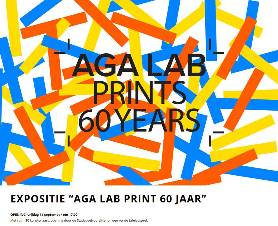 AGA LAB Prints 60 jaar