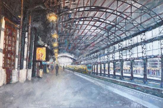 Schilderijen van Lizan van Dijk bij ABC Architectuurcentrum Haarlem