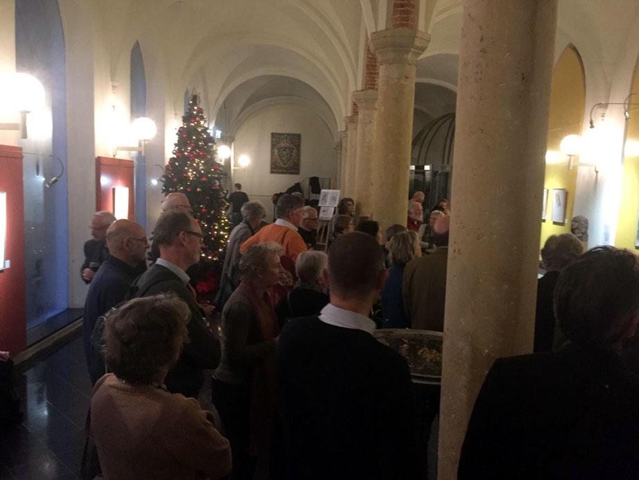 Foto impressie opening expositie Tekenen en schilderen in de Haarlemse Hofjes