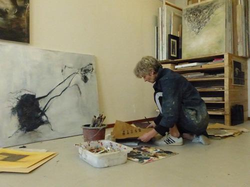 Caroline Doornenbal heeft open atelier tijdens de Haarlemse Kunstlijn 2019