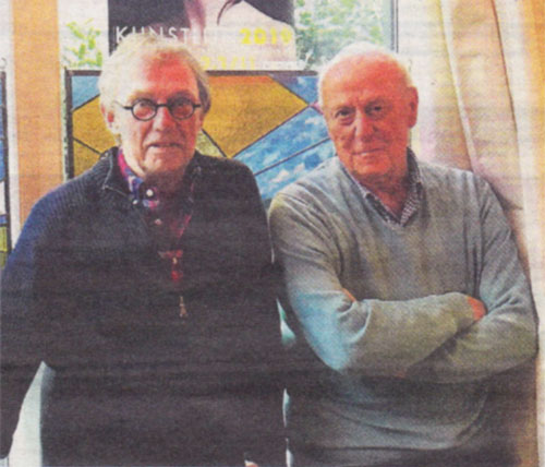 Albert Röllich en Jan Reijnders na jaren weer terug als organisatieduo Kunstlijnexpositie Heemstede