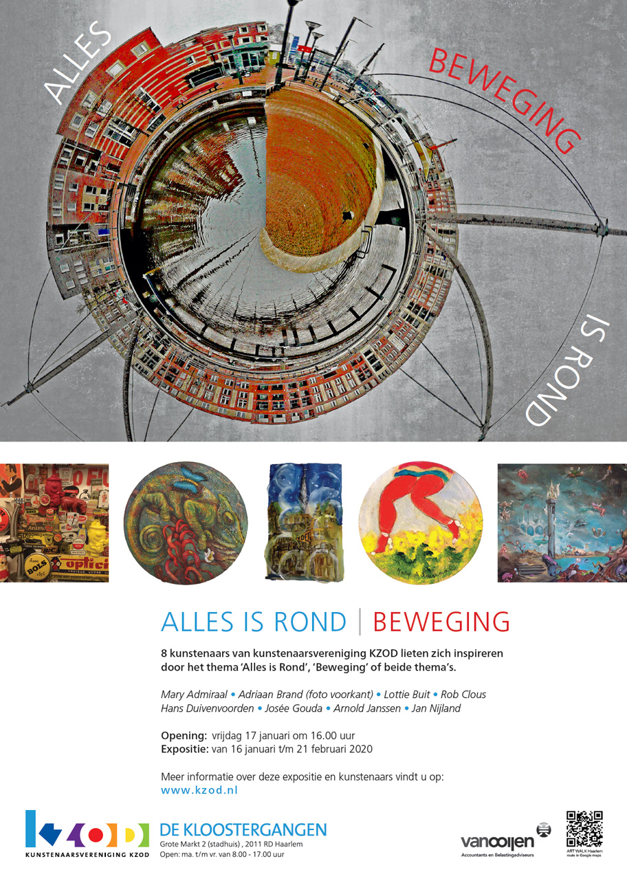 Expositie De Kloostergangen ALLES IS ROND | BEWEGING