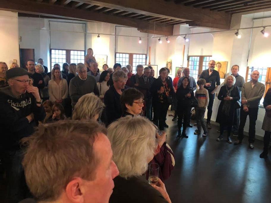 Foto impressie opening expositie Nieuwe Leden 2019 en Nieuwjaarsreceptie 2020